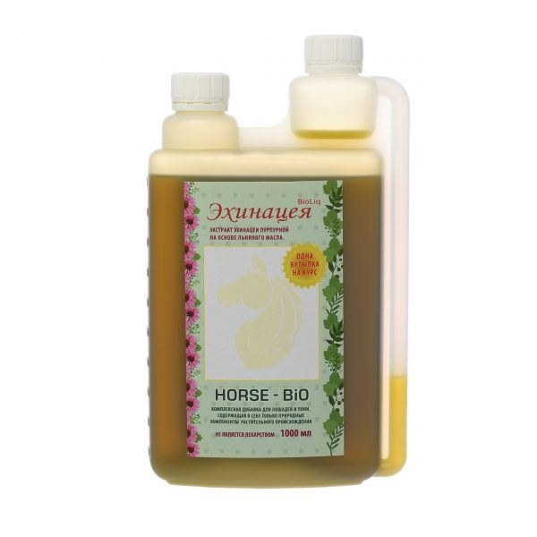 Эхинацея BioLiq Active на основе льняного масла, 1л